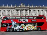 Guía turística por la ciudad de Madrid en autobús