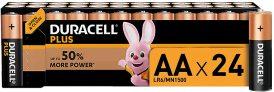 Duracell Plus AA – Pilas Alcalinas Paquete de 24