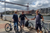 Recorrido en bicicleta por el mar de Bilbao