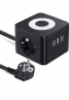 Regleta Enchufes USB, Cube Enchufe con 3 USB Puertos y 2 Tomas